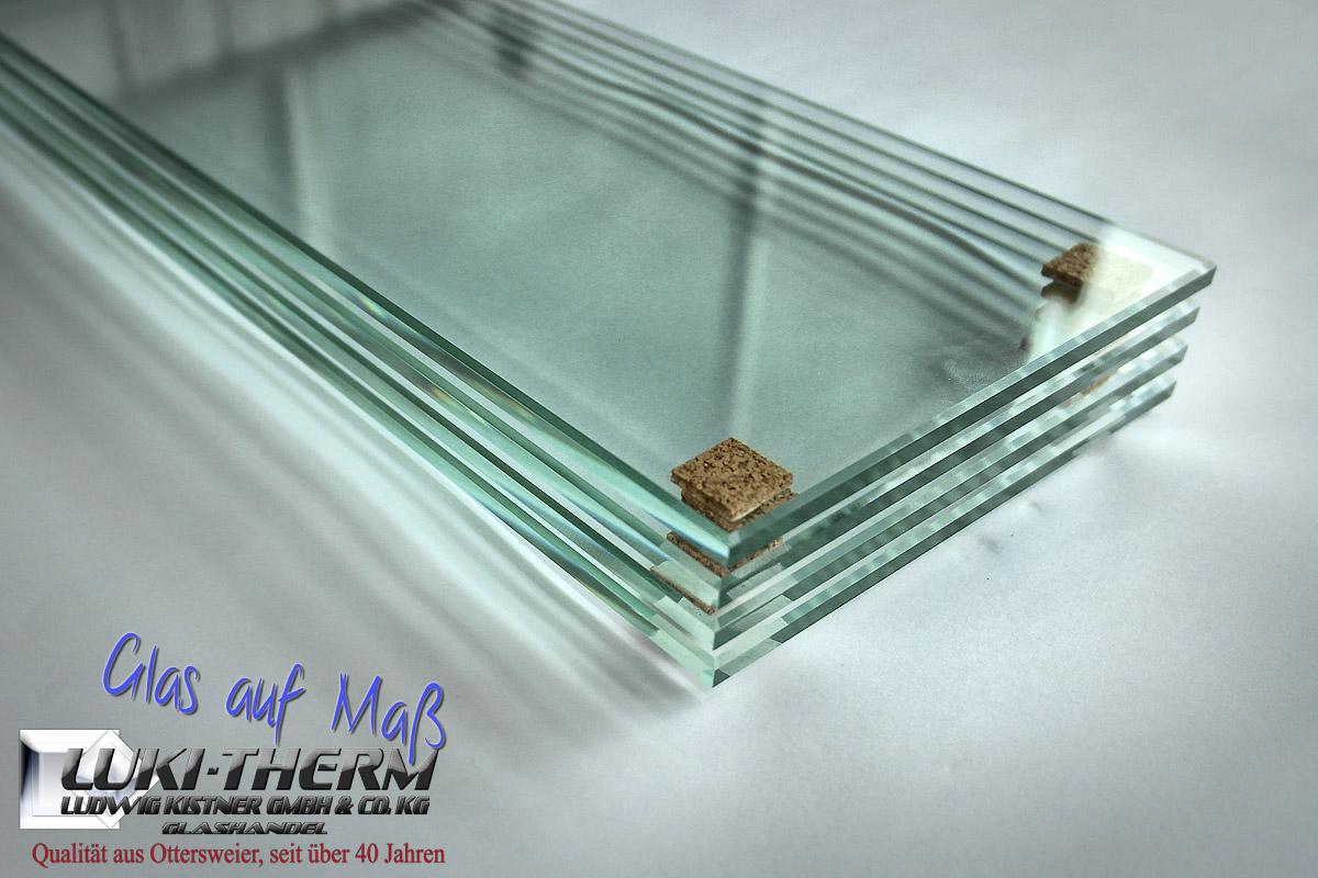 Floatglas mit polierten Kanten