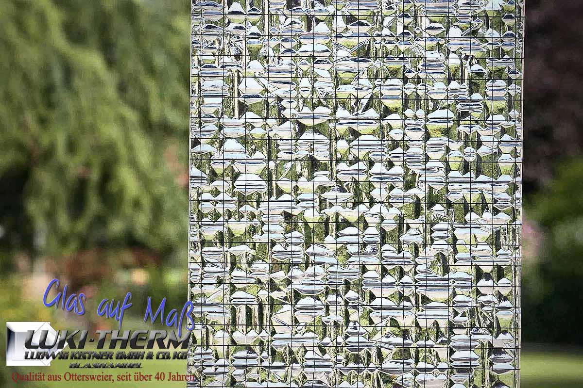Drahtornamentglas 187 weiß 7 mm