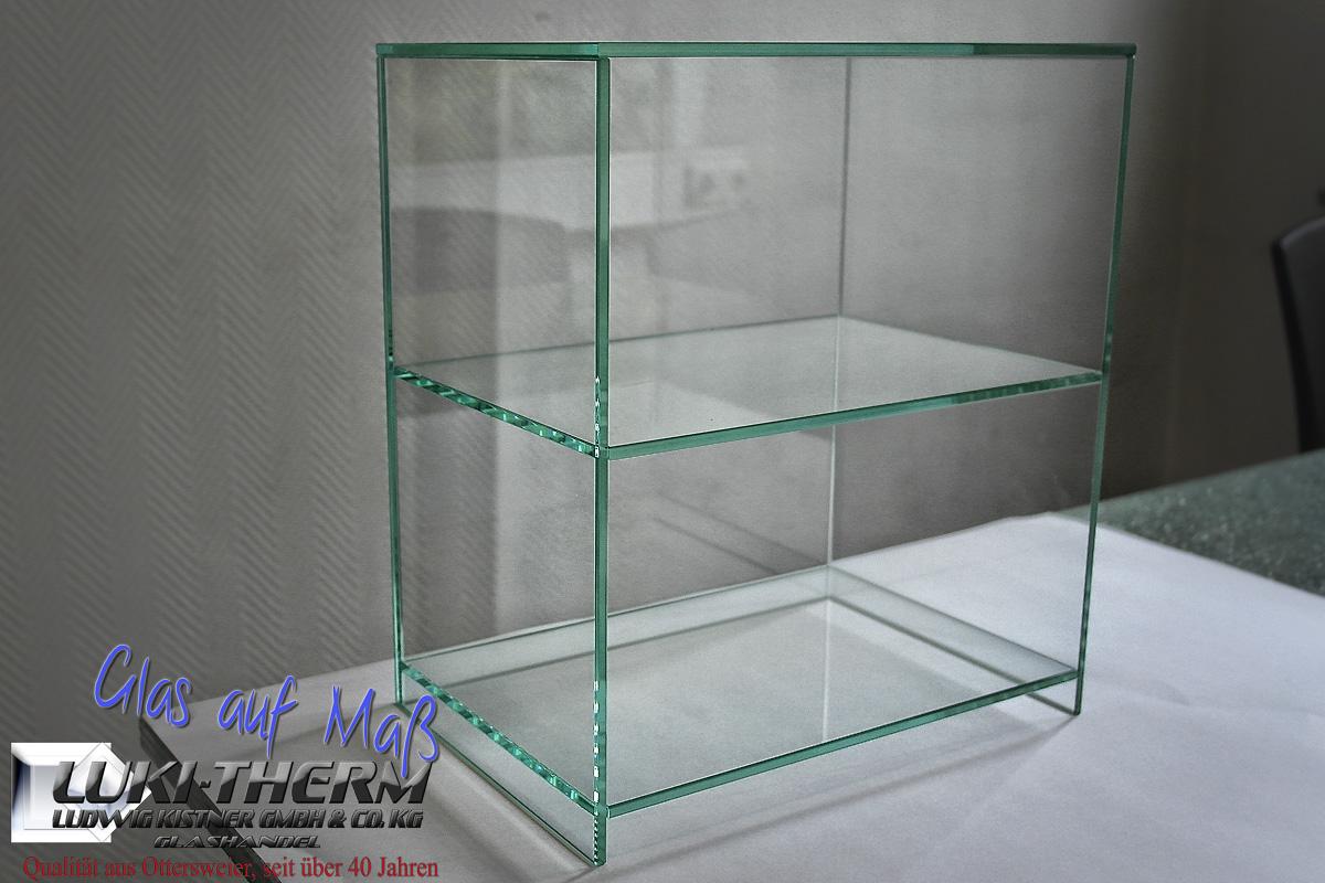 Glasregal UV-Verklebt