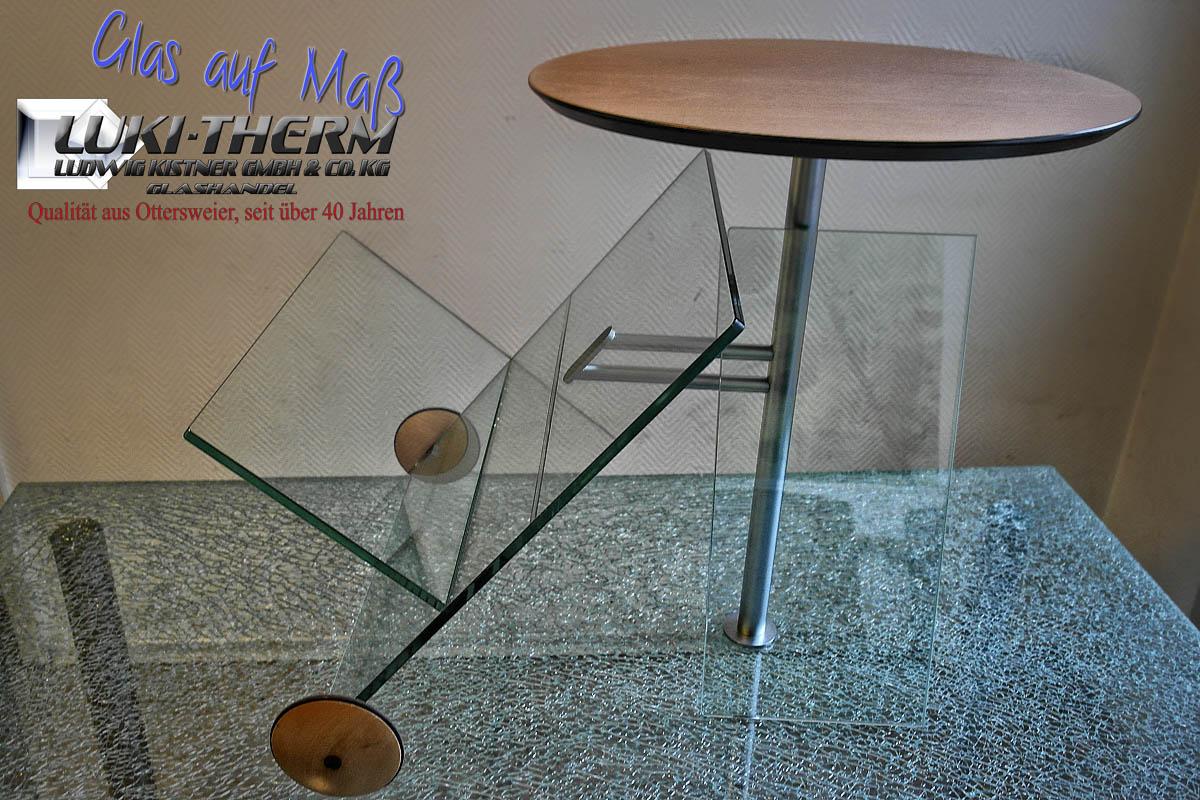 Glastischchen neu zu verkleben